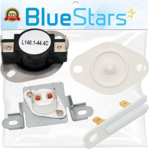 3392519 & 8577274 & 279973 Dryer Thermal Cut-Off Fuse Kit with Thermistor and Thermal Fuse Replacement Kit by Blue Stars - Exact Fit for Whirlpool & Kenmore Dryers - Thermal Kit