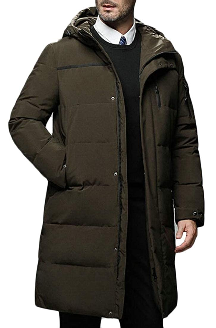 omniscient Mens Warm Hooded Snow Winter Puffer Coats Quilted Down Jacket