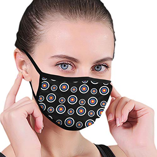 YongColer Men Women Boys Girls Anti Pollution Dust Warm Windproof Mask Washable Reusable Face Mouth Mask Fashion Archery Target Colorado Circular Mouth Face Mask for Travel Outdoor Running Cycling