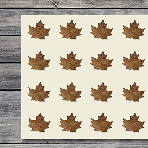 Maple Leaf Craft Stickers, 44 Stickers at 1.5 inches, Great Shapes for Scrapbook, Party, Seals, DIY Projects, Item 1321107