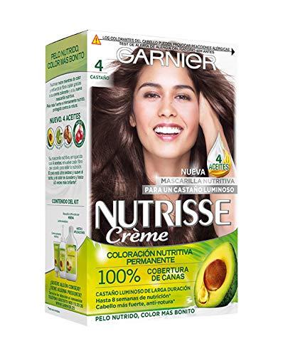 Garnier Nutrisse Creme coloracion permanente con mascarilla nutritiva de cuatro aceites - Castano 4