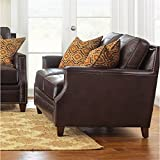 Steve Silver Company Caldwell Loveseat with Two Accent Pillows, 63'' x 41'' x 39''