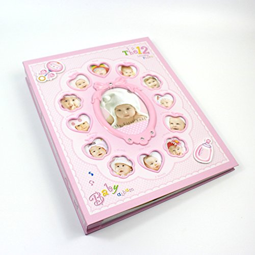 New 8 Inch 6 Inch Baby Photo Album De Fotografia Children Grow Up Diy Interstitials (Pink)