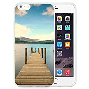 New Beautiful Custom Designed Cover Case For iPhone 6 Plus 5.5 Inch With Pier River Mountain Distance Sky (2) Phone Case
