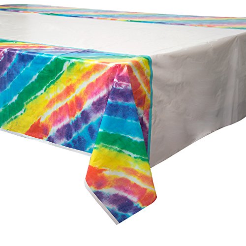 Tie Dye Plastic Tablecloth, 84