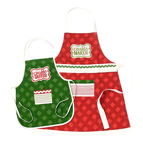 Santas Sleigh Maker (Hallmark Home Adult and Child Christmas Apron Set,