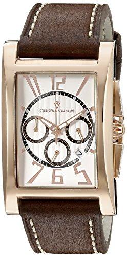 Christian Van Sant Men's CV4515 Analog Display Quartz Brown Watch