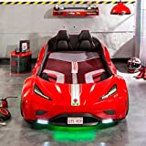 Cilek Twin Size Kids Race Car Bed Frame Remote