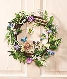 Floral Garden Spring Welcome Wreath