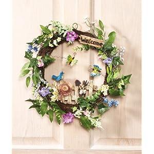 Floral Garden Spring Welcome Wreath 20
