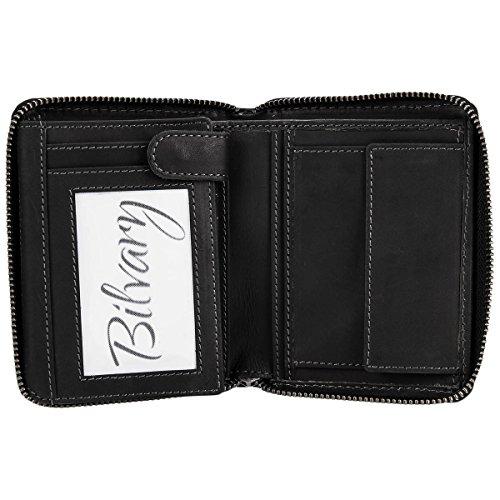 Greenburry Porte Black Vintage Black cuir monnaie 10 cm rqn1rESwz