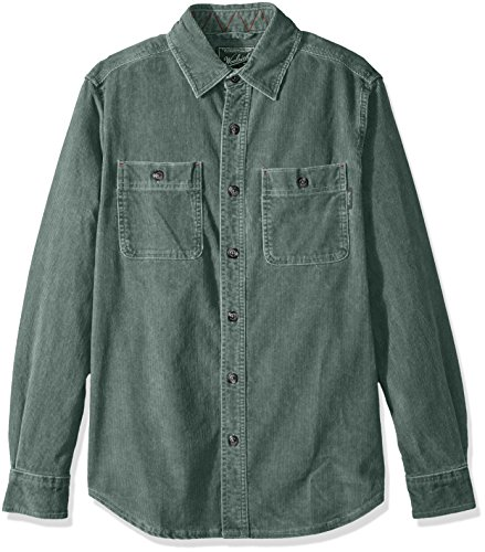 Hemlock Shirt Cord Brown Earth Ii Woolrich Con Da Uomo Maglia Bottoni qZtwqEIv