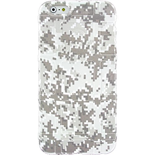 """LIMITED EDITION - Authentic Made in U.S.A. Magpul Industries Field Case for Apple iPhone 6 Plus/ iPhone 6s Plus (Larger 5.5"""" Size) (White Digital Camo)"""