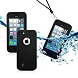 GEARONIC TM New 2016 Newest Durable Waterproof Shockproof Dirt Snow Proof Case Cover For iPhone SE 5 5C 5S - Black