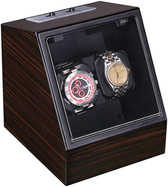 Caja Giratorias Relojes Automaticos Silenciosos, Estuche Reloj Organizador Expositor Relojes Watch Winder Enrollador De Rotación Relojes para 2 Reloj, H032ZJ (Color : B): Amazon.es: Hogar