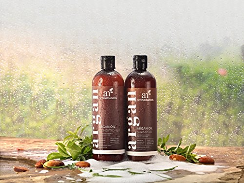 ArtNaturals Organic Moroccan Argan Oil Shampoo and Conditioner Set - (2 x 16 Fl Oz / 473ml) - Sulfate Free - Volumizing & Moisturizing - Gentle on Curly & Color Treated Hair - Infused with Keratin by ArtNaturals (Image #6)