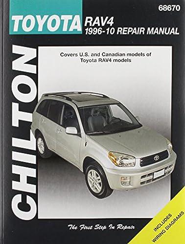 chilton total car care toyota rav 4 1996 2010 repair manual rh amazon com 2010 toyota rav4 owners manual pdf 2010 toyota rav4 repair manual