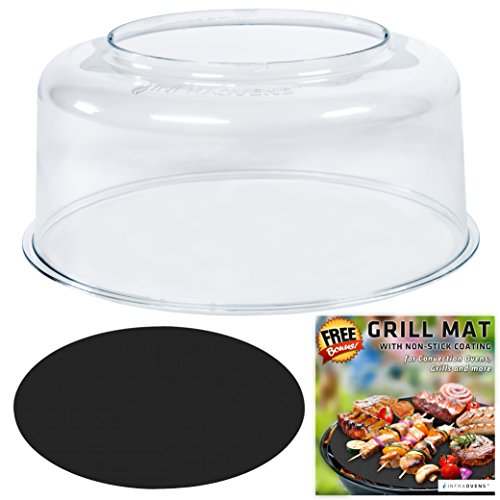 Dome Compatible with NuWave Oven PRO PLUS Models for Infrared Convection Cookers - Cover Replacement - Bundles w Food Thermometer by INFRAOVENS
