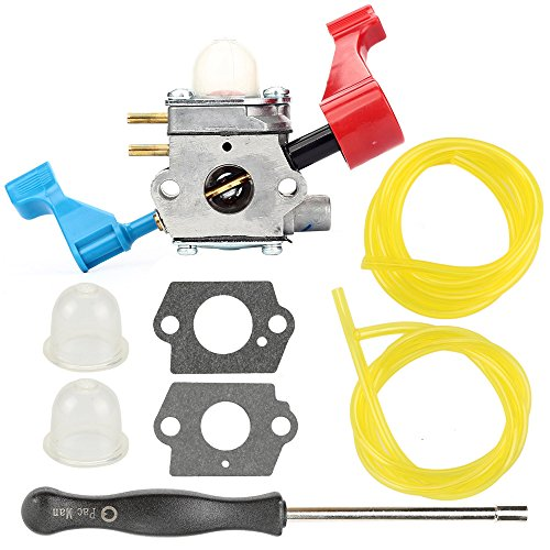 Butom C1U-W12A C1U-W12B Carburetor with Fuel Line Adjustment Tool for Poulan FL1500 FL1500LE Leaf Blower by Butom