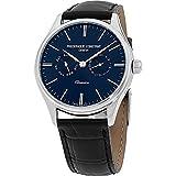 Frederique Constant Classics blue Dial Leather Strap Men's Watch FC259bNT5b6