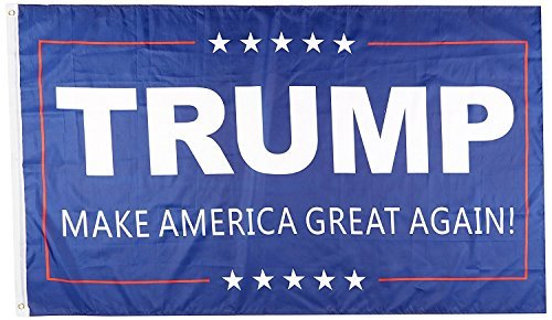 (PringCor - Donald Trump for President Make America Great Again 3x5 Feet Printed Flag with Grommets Republican MAGA)