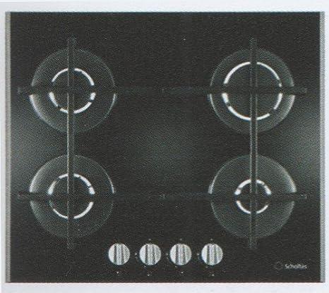 Scholtes SCHG 640 (BK) GH Incasso Piano cottura a gas Nero piano ...