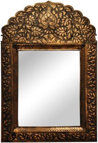 Pakistan Crafted Copper Big Leaf Mirror