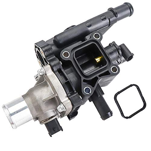 Engine Coolant Thermostat with Sensor Gasket for Chevy Sonic Cruze 1.8L Thermostat Housing Assembly 25192228