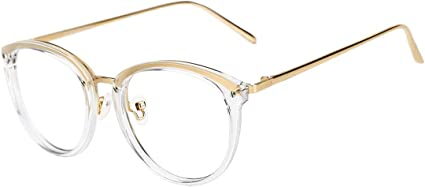 TIJN Vintage Round Metal Optical Eyewear Non-prescription Eyeglasses Frame  for Women: Amazon.ca: Clothing & Accessories