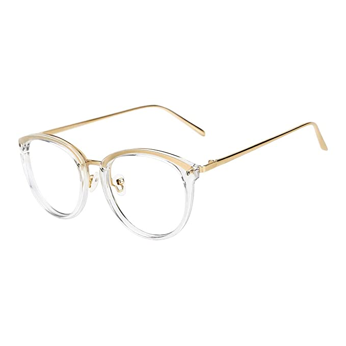 a4b538bb51 TIJN Vintage Round Metal Optical Eyewear Non-prescription Eyeglasses Frame  for Women  Amazon.ca  Clothing   Accessories