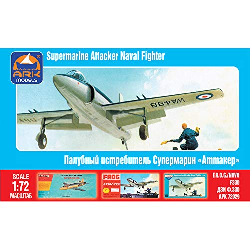 Supermarine Attacker British Single-seat Naval Jet Fighter Russian Airplane Model Kits Scale 1:72