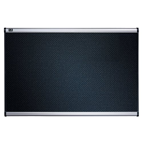Quartet B343A Quartet Embossed Bulletin Board, Hi-Density Foam, 36x24, BLK,