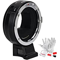 Commlite CM-EF-E HS High-Speed Electronic AF Lens Mount Adapter for Canon EF/EF-S Lens to Sony E-Mount Camera for Sony A9 A7RIII A7RII A6000 A6300 A6500,CDAF & PDAF Functions w/ PERGEAR Cleaning Kit