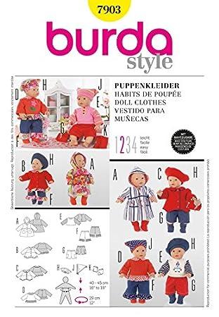 Burda Schnittmuster 7903 – Puppe Kleidung & Accessoires: Amazon.de ...