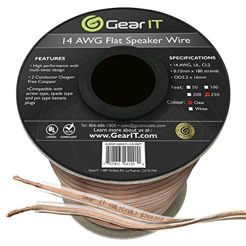 GearIT Elite Series 14AWG Flat Speaker Wire  - Oxygen Free C