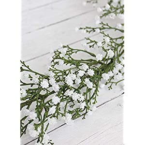 Afloral Plastic Outdoor Baby's Breath Garland in White - 6' Long 2