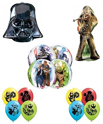 Star Wars Shaped Balloon - Star Wars DELUXE Birthday Party Balloon Decoration Kit