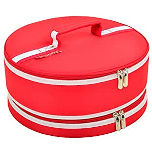 """Picnic at Ascot Hounds Tooth Pie/Cake Carrier 6""""x12.5""""x12.5"""" Red"""
