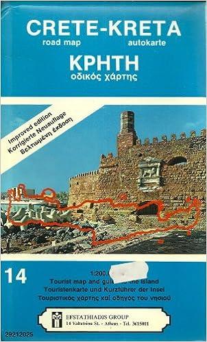 Crete Road Map Kreta Kphth Crete Efstathiadis Amazon Com Books