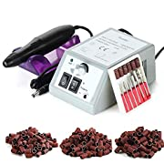 Nail drill, electric nail file, GreenLife® Electric Nail Drill Machine for acrylic gel nails Professional e file set…