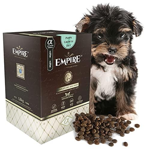 Empire Welpen Trockenfutter – 1,8kg – Hundefutter Trocken Getreidefrei – Kleine Rassen – 80% Frisches Wildfleisch und…