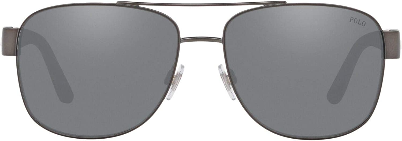 Ralph Lauren POLO 0PH3122 Gafas de sol, Matte Dark Gunmetal, 59 ...