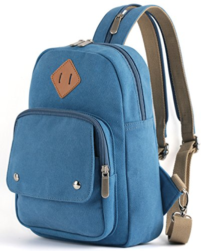 HITOP Lightweight Mini Backpack Cute Fashion Small Bag Daypack for Women (Blue)