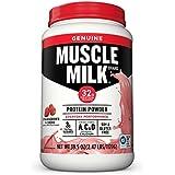 Muscle Milk Genuine Protein Powder, Strawberries 'N Crème, 32g Protein, 2.47 Pound