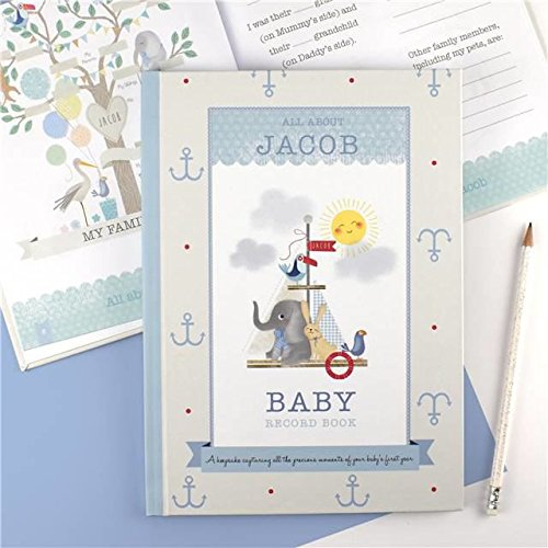 The Gift Experience Personalised Baby Record Book for a Boy