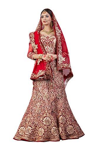 IWS Indian Women Designer Wedding red Lehenga Choli K-4571-40079