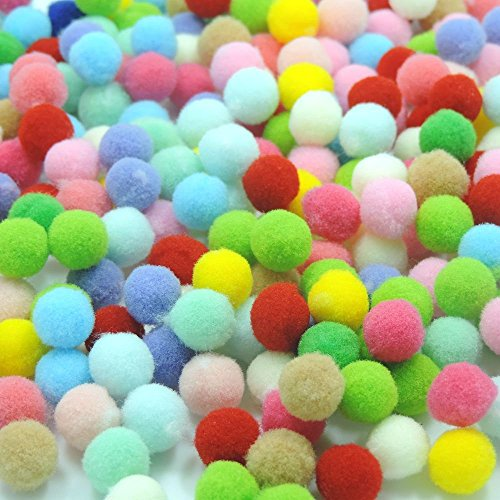 200pcs Mix Color Craft Cotton Acrylic Ball Aromatherapy Essential Oil Diffuser Fit Locket Pendant Necklace (Craft Cotton Balls)