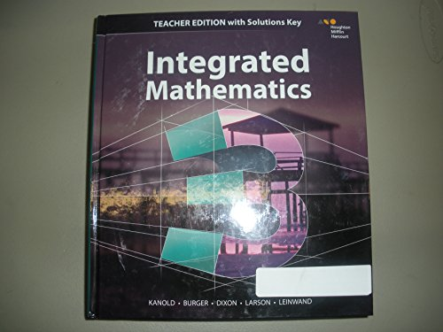 Integrated Mathematics 3 Teacher's Edition with Solutions Key