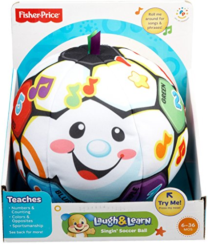 51CJPeL66uL - Fisher-Price Laugh & Learn Singin Soccer Ball