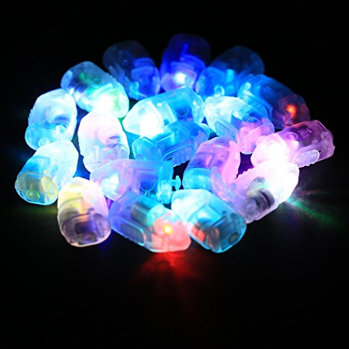 Mini LED Flash Balloons Light Ball Lamp for Paper Lantern Christmas Floral Party Birthday Wedding Decoration (100 PCS)
